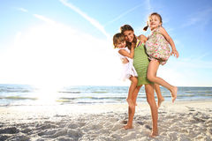 Na praia. Fotos de Stock Royalty Free