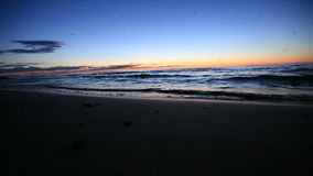Na praia video estoque