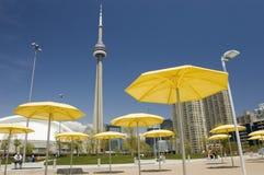 Na praia artificial em Toronto Canadá imagem de stock