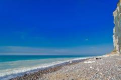 Na praia em Dieppe França em abril de 2015 Imagens de Stock