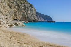 Na praia em Grécia Imagem de Stock