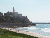 Na praia em Jaffo Fotos de Stock Royalty Free