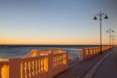 Na praia em Malaga fotografia de stock