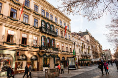 Na Prikope street in Prague. Royalty Free Stock Image