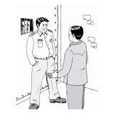 Na prisão ilustração stock