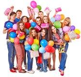 Na przyjęciu grupowi ludzie. Fotografia Stock
