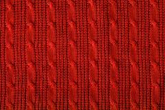 Wełna puloweru tekstura Fotografia Stock