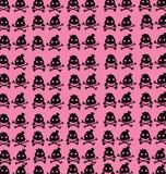 Na różowym tle tapetowe czarny czaszki royalty ilustracja