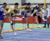 Na raça de obstáculos Foto de Stock Royalty Free