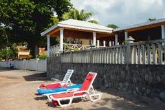 Na raj plaży Kingstown, święty Zdjęcia Royalty Free