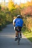 na rowerze zdjęcie stock