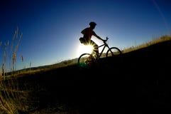 na rowerze. Zdjęcie Stock