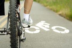 na rowerze Fotografia Royalty Free