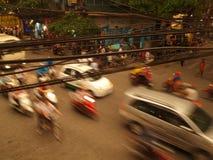 Na rozdrożu ruch drogowy dżem Zdjęcia Stock