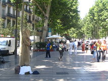 Na rua de Barcelona Imagens de Stock Royalty Free