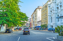 Na rua de York de Colombo fotografia de stock