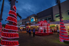 Na rua principal, Fort Bonifacio Imagens de Stock Royalty Free