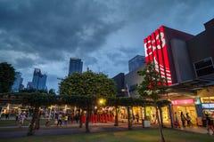 Na rua principal, Fort Bonifacio Imagens de Stock