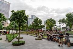 Na rua principal, Fort Bonifacio Fotografia de Stock Royalty Free