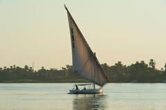 Na Rzeczny Nil tradycyjny felluca Obraz Royalty Free