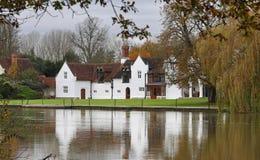 Na Rzecznym Thames luksusu Dom Obrazy Royalty Free