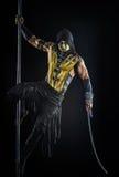 Na słupa bodyart skorpionie zdjęcie royalty free