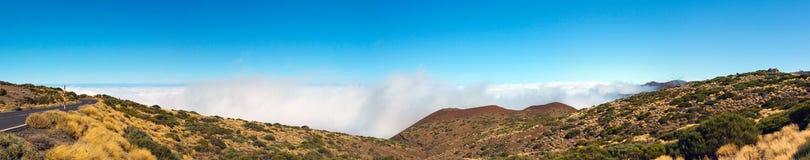 Na słonecznym dniu Teide wulkan Fotografia Stock