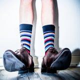 Na sapata dos homens Foto de Stock