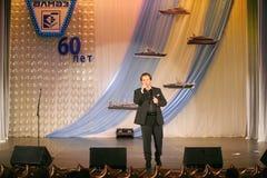 Na scenie śpiewa Vasily Gerello G â€' sowiecki i rosyjski opera piosenkarz (baryton) Zdjęcia Stock