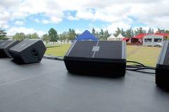 Na scenie przed festiwalem muzyki Fotografia Stock