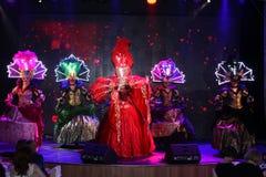 Na scenie w spektakularnym przedstawieniu Najważniejszym muzykalny theatre Obrazy Royalty Free