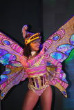 Na scenie w spektakularnym przedstawieniu Najważniejszym muzykalny theatre Fotografia Royalty Free