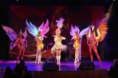 Na scenie w spektakularnym przedstawieniu Najważniejszym muzykalny theatre Obraz Stock