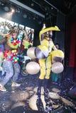 Na scenie w spektakularnym przedstawieniu Najważniejszym muzykalny theatre Zdjęcia Stock