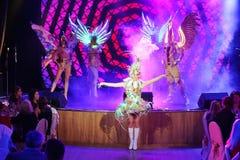 Na scenie w spektakularnym przedstawieniu Najważniejszym muzykalny theatre Obrazy Stock