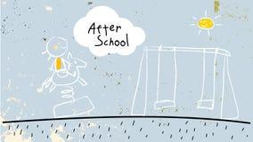 Na school vector illustratie