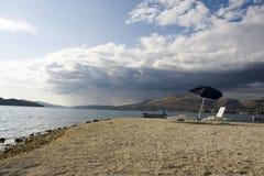 Na seizoen op het strand Royalty-vrije Stock Afbeelding