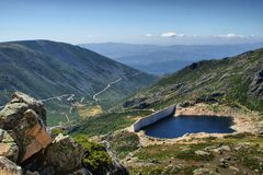 Na Serra da Estrela van damcovao Royalty-vrije Stock Afbeeldingen