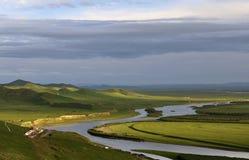 Na Sichuan północnym pleatue żółta Rzeka Obraz Stock