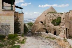 Na skłonach forteca Uchisar obraz stock