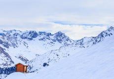 Na skłonach ośrodek narciarski Meribel Fotografia Stock