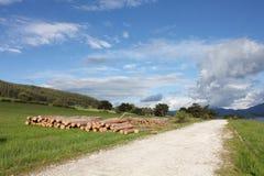Na skalistym sposobie niebo nad Batak tama blisko Tsigov Chark Fotografia Stock