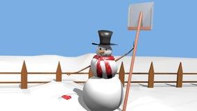 Na Sneeuwval royalty-vrije stock afbeelding