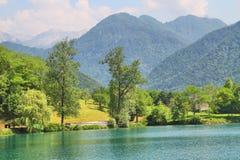 Na Soci, Slovenia del lago al massimo Fotografia Stock Libera da Diritti