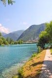 Na Soci, Slovenien för sjö vid de flesta Arkivbilder
