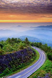 Na sposobie natura i ładny niebo Zdjęcie Royalty Free