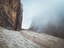 Na sposobie Piz Boe w Włoskich dolomitach zdjęcie royalty free