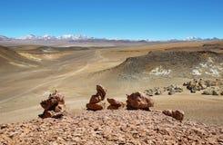 Na sposobie Salar De Tara, Chile obraz stock