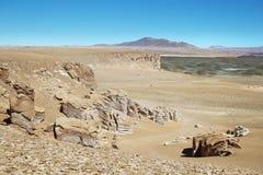 Na sposobie Salar De Tara, Chile zdjęcie royalty free