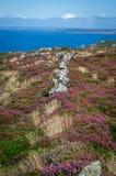 Na sposobie Zennor w Cornwall uk Anglia Zdjęcie Stock